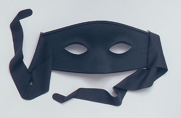 Bandit Eyemask Wild West Robber Fancy Dress